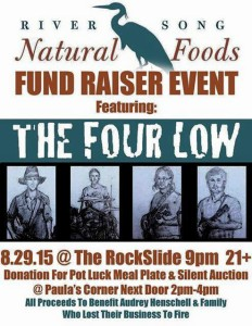 River Song Natural Foods Fundraiser poster